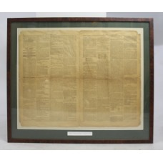 """Nelson's Victory at Rosetta"" The Times 1798 Framed"