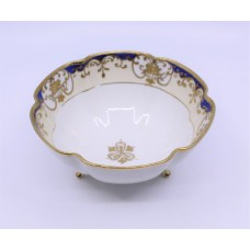Noritake White, Cobalt & Gilded Footed Bowl
