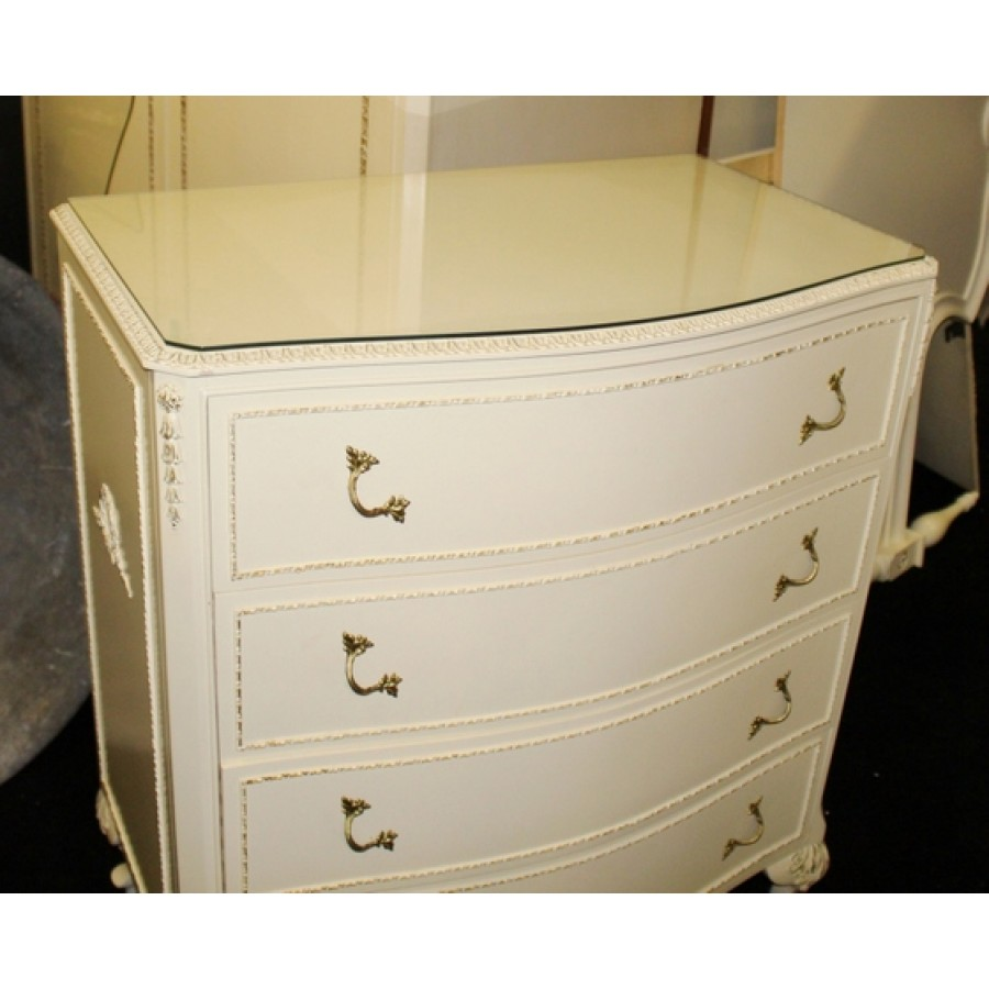 Olympus Louis Xv Style Cream Chest Of Drawers