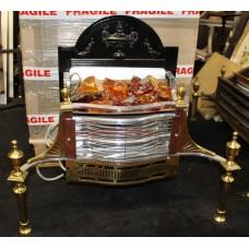 Ornate Brass Coal Effect Electric Fire