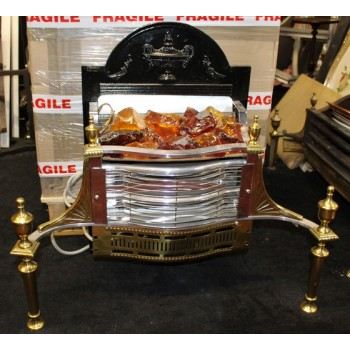 Ornate Brass Coal Effect Electric Fire