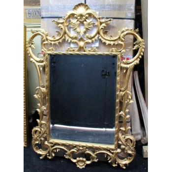 Ornate Carved Wood Gilt Bevelled Glass Mirror Pier Glass