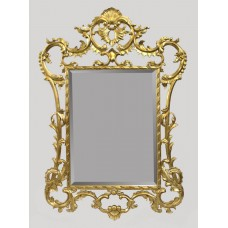 Ornately Hand Carved Giltwood Bevelled Glass Mirror