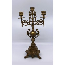Ornate Solid Brass Candelabra