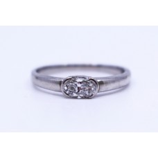 Oval Brilliant Cut 0.65 Carat Diamond Platinum Ring