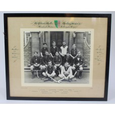 Oxford University St Peter's Hall 1938-39 Hockey XI Photograph