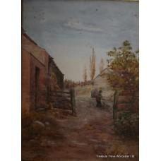 A.W.Stables 1897 Landscape Watercolour