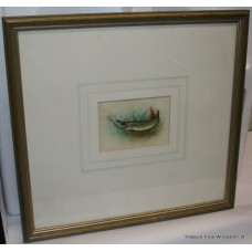 "Signed Harry Davis Watercolour ""Pike"""