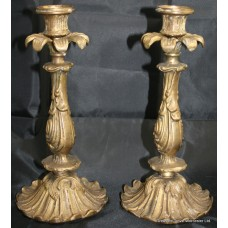 Pair of Antique Style Brass Candlesticks