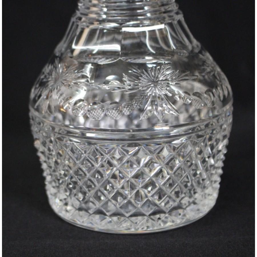 Pair Of Elegant Cut Glass Stuart Crystal Liquor Decanter