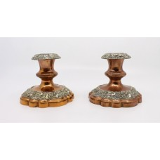 Pair of Early 19th c. Sheffield Plate Candlesticks