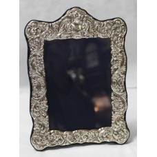 Elegant Sterling Silver Rococo Style Freestanding Picture Frames