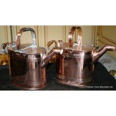 Pair of Georgian Copper Watering Cans