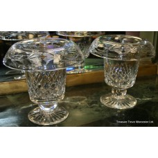 Pair of Large Royal Brierley Cut Glass Vases