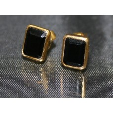 Pair of 9ct Gold Jet Ear Studs