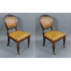 Pair of Mid 19th c. Gillow Mahogany Library Chairs