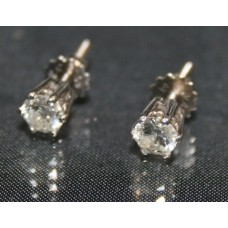 Pair of Single Stone Diamond 18ct White Gold Ear Studs