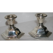 Pair of Sterling Silver Candlesticks Birmingham 1934