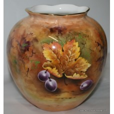 Hand Painted Fruit Vase by Peter Gosling