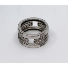 Bulgari Parentesi Platinum & Diamond Band Ring