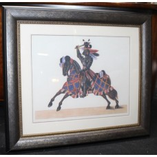 Print of Medieval Knight Set in Heavy Frame