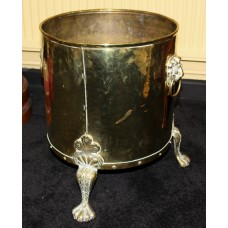 Quality Heavy Antique Footed Brass Fire Bucket