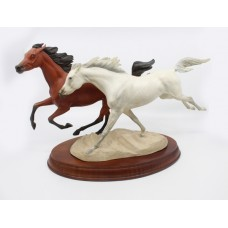 Racing the Wind Porcelain Horse Sculpture by The Franklin Mint