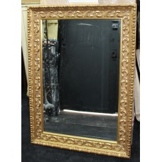 Rectangular Gilt Gold Leaf Bevelled Mirror 80.5 x 111 cm