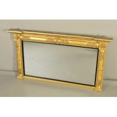 Regency Gesso & Giltwood Overmantle Mirror