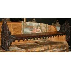Regency Rosewood Carved Prayer Stool