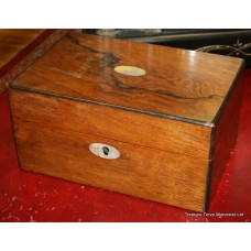Antique Regency Rosewood Sewing Box