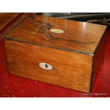 Antique Regency Rosewood Sewing Box