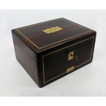 Early 19th c. Brass Inlaid Rosewood Writing Box by William Wilson Edinburgh