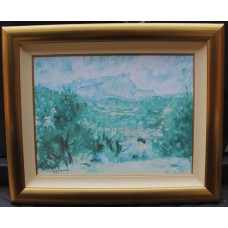 "Rolf Harris ""Mont Sainte Victoire"" Limited Edition Signed Giclee Framed"