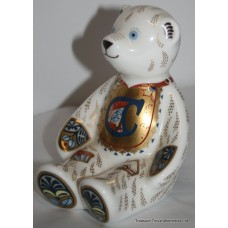 "Royal Crown Derby ""Alphabet Bear"" Paperweight"