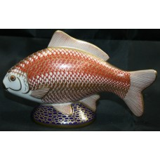 Royal Crown Derby Carp Fish Paperweight