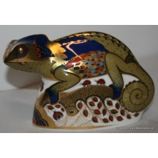 "Royal Crown Derby ""Chameleon"" Paperweight"