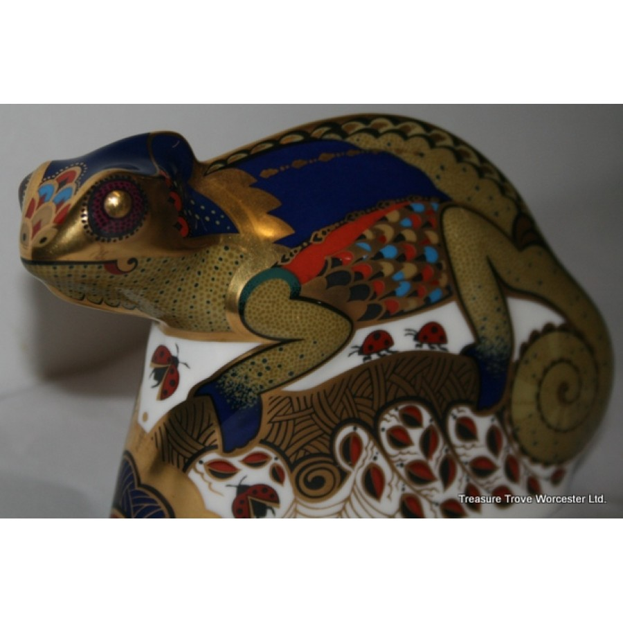 Royal Crown Derby Quot Chameleon Quot Paperweight