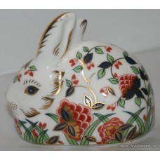 "Royal Crown Derby ""Meadow Rabbit"" Paperweight"
