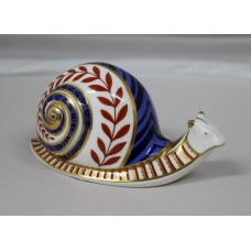 Royal Crown Derby Paperweight Snail Gold Seal