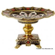 Royal Crown Derby Old Imari Solid Gold Band Comport