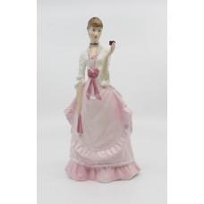 Royal Worcester Figurine Fragrance Pink & White Dress