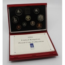 Royal Mint Cased 1992 Proof Coin Collection