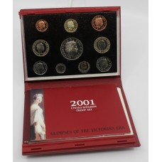 Royal Mint Cased 2001 Deluxe Proof Coin Collection
