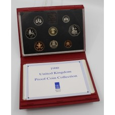 Royal Mint Cased 1990 Proof Coin Collection