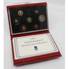 Royal Mint Cased 1991 Proof Coin Collection