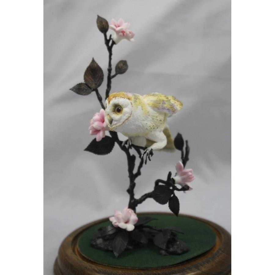 Royal Worcester Bronze Amp Porcelain Quot Barn Owl Quot Domed