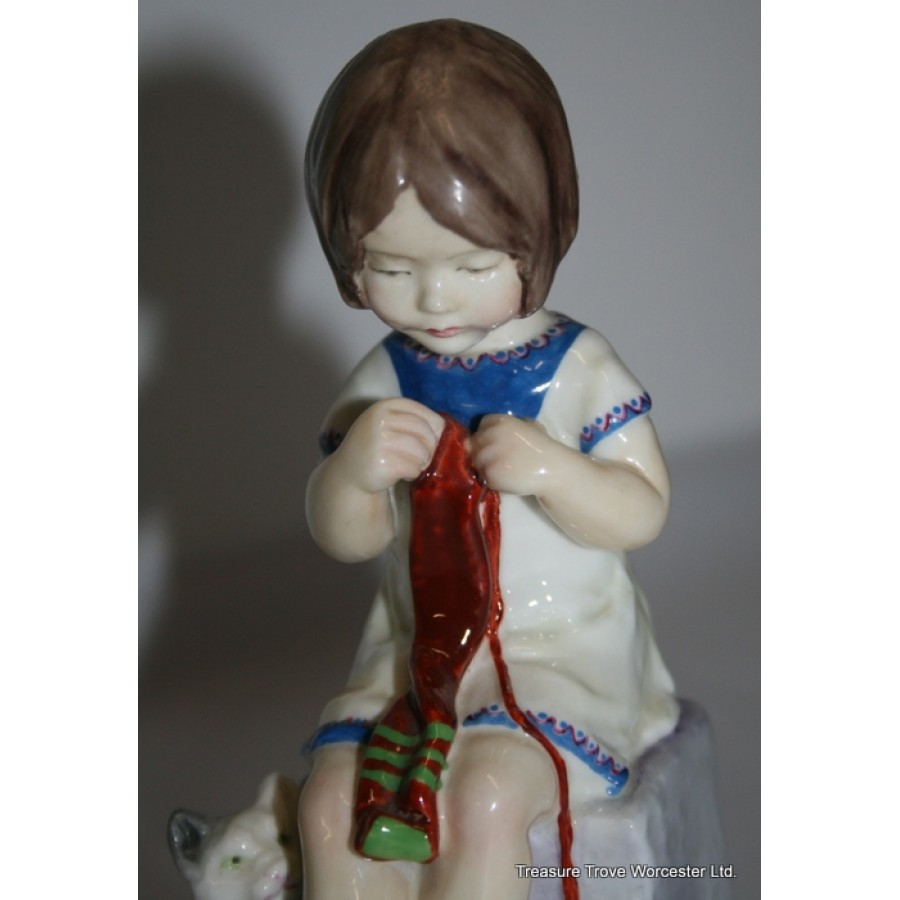 Royal Worcester Figurine Saturday S Child 3262 By F G
