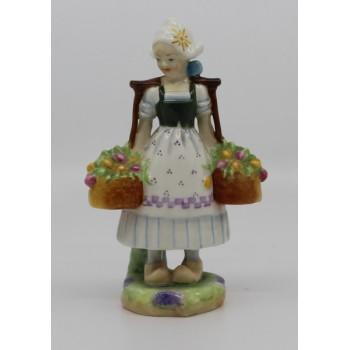 Royal Worcester Dutch Girl Figurine 2922