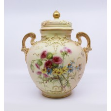 Royal Worcester Edward Raby Two Handled Vase & Cover 1896